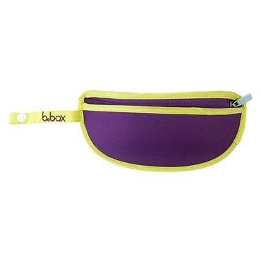 b.box Travel Bib & Spoon - Splish Splash (Purple)