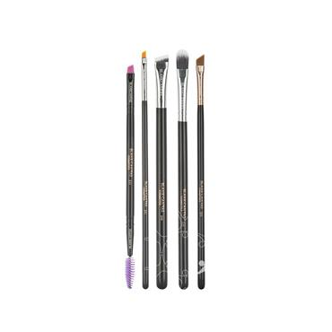 Blank Canvas Cosmetics Dimension Series One Stop Brow 5 Piece Brush Set