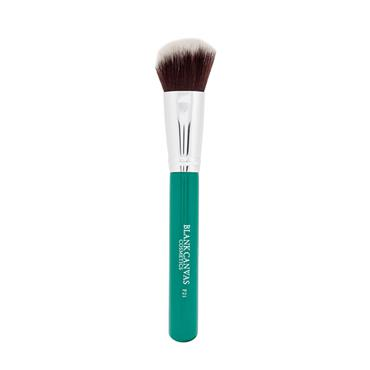 Blank Canvas Cosmetics F21 Angled Face Brush Green