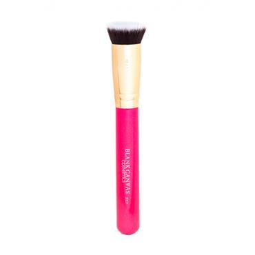 Blank Canvas Cosmetics F57 Metallic Gold & Pink Multi Purpose Flat Top Buffer Brush