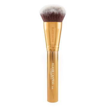 Blank Canvas Cosmetics Dimension Series F08 Metallic Gold Dome Buffing Brush