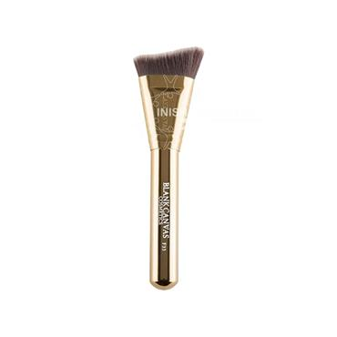 Blank Canvas Cosmetics Dimension Series F33 Metallic Gold Extreme Angle Contour Brush
