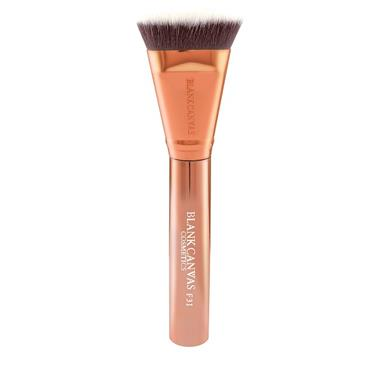 Blank Canvas Cosmetics Dimension Series F31 Metallic Rose Gold Targeted Contour Brush