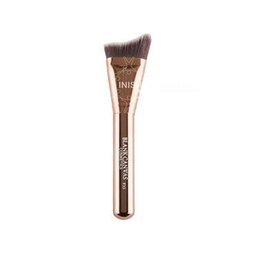 Blank Canvas Cosmetics Dimension Series F33 Metallic Rose Gold Extreme Angle Contour Brush