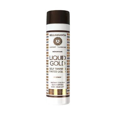 Bellamianta Liquid Gold Self Tanning Tinted Liquid Medium/Dark 150ml