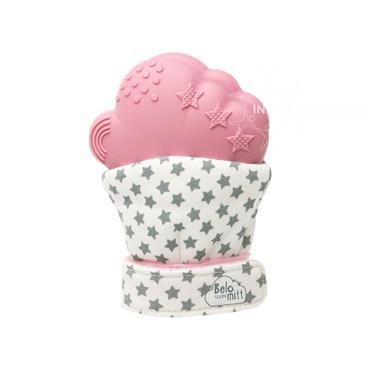Belo Bunny Teething Mitt Pink