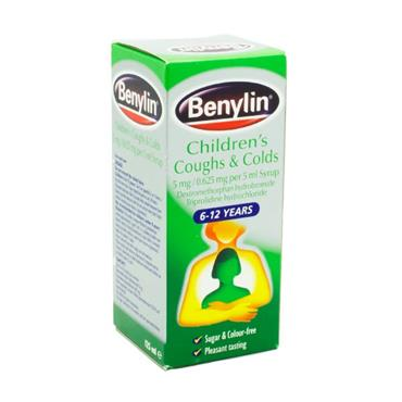 Benylin Children's Coughs & Colds 6-12 Years 125ml
