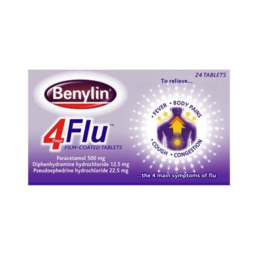 Benylin 4 Flu Tablets 24 Pack