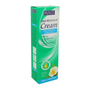 Beauty Formulas Hair Removal Cream With Green Tea Extract 110ml