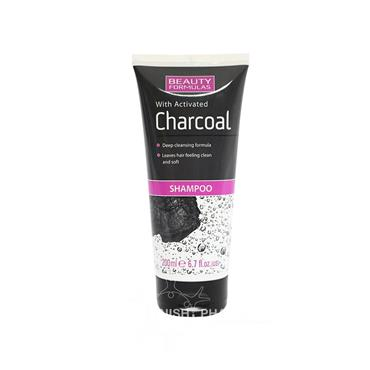 Beauty Formulas with Activated Charcoal Shampoo 200ml