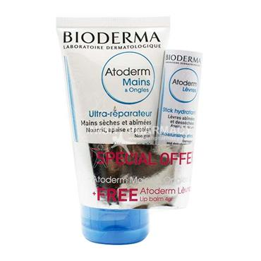 Bioderma Atoderm Ultra Repair Hands & Nails 50ml with Free Moisturising Stick 4g