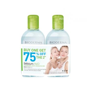 Bioderma Sebium H2o Micellar Water  250ml Twin Pack Special Offer