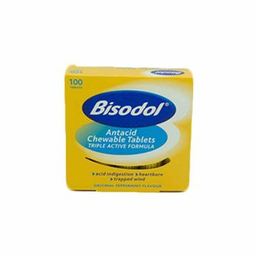 Bisodol Antacid Chewable Tablets 100 Tablets