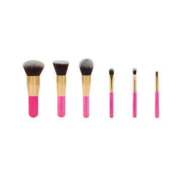 Blank Canvas Cosmetics Dimension Series Metallic Gold & Hot Pink 6 Piece Travel Set