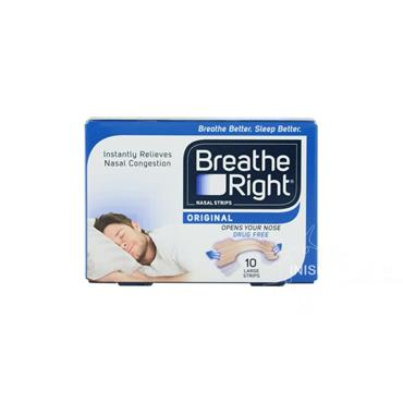 Breathe Right Original Nasal Strips Large 10 Pack