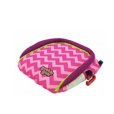 BubbleBum Inflatable Booster Seat Pink Chevron