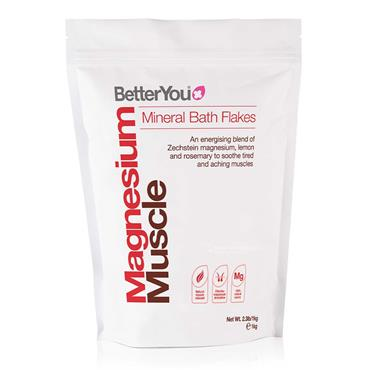 BetterYou Magnesium Muscle Mineral Bath Flakes 1kg