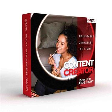 Capti Content Creator 16cm LED Ring Light
