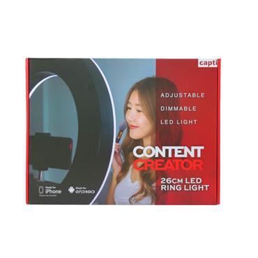 Capti Content Creator 26cm LED Ring Light & Floor Tripod