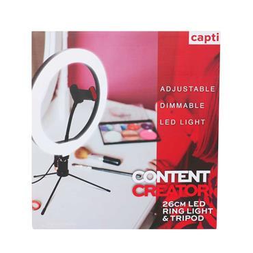 Capti Content Creator 26cm Ring Light & Desk Tripod