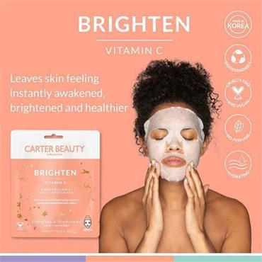 Carter Beauty Brighten Vitamin C Biodegradable Facial Sheet Mask