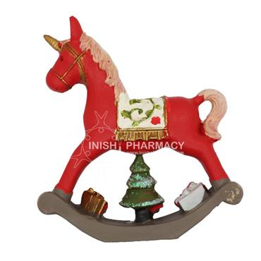 Red Rocking Horse Christmas Decoration
