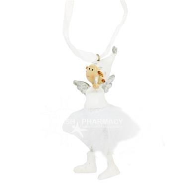 Hanging White Angel Christmas Decoration