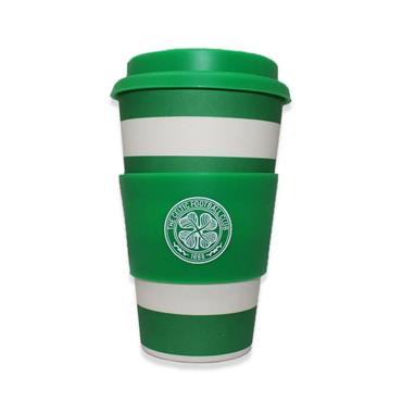 Celtic Footbal Club Official Merchandise Bamboo Hooped Travel Mug