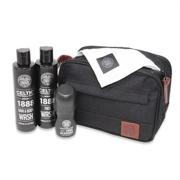 Celtic Football Club Official Merchandise Canvas Wash Bag Gift Set