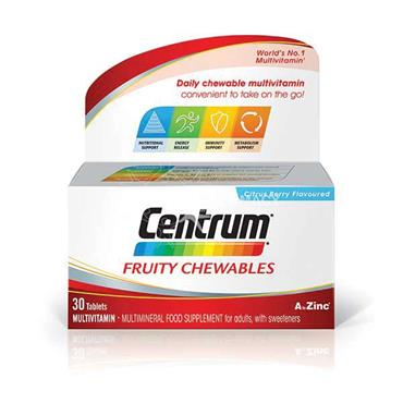 Centrum Fruity Chewables Citrus Berry Flavoured 30 Pack