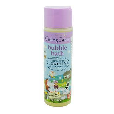 Childs Farm Bubble Bath For Sensitive Skin Organic Tangerine 250ml