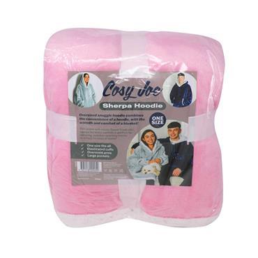Cosy Joe Hoodie Blanket Pink