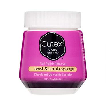 Cutex Twist & Scrub Sponge Nail Polish Remover 59ml
