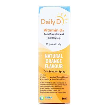 DailyD Vitamin D3 1000iu Spray 30ml
