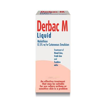 Derbac M Malathion Liquid For Lice and Scabies 150ml