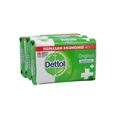 Dettol Original Protect+ Anti-Bacterial Soap 3 Pack