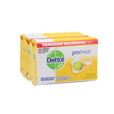 Dettol Profresh Citrus Anti-Bacterial Soap 3 Pack