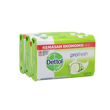 Dettol Profresh Anti-Bacterial Soap 3 Pack
