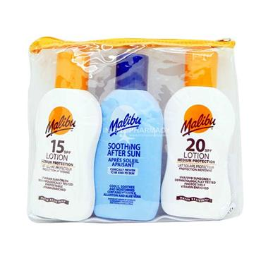 Malibu Sun Lotion 3 Piece Travel Set