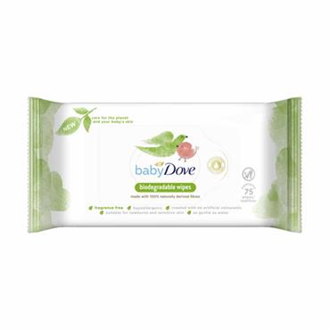 Dove Baby Biodegradable Wipes 75 Pack