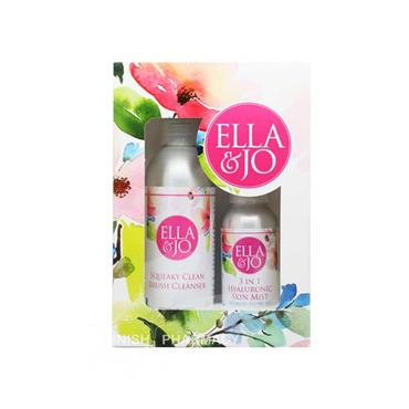 Ella & Jo Squeaky Clean Brush Cleanser & 3 in 1 Hyaluronic Mist Set