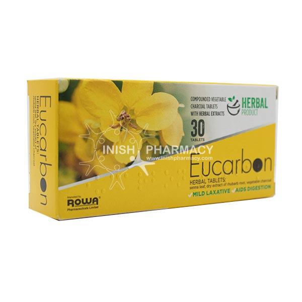 Eucarbon Charcoal with Senna and Rhubarb Root 30 Tablets