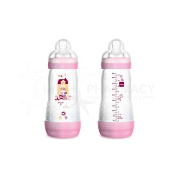 MAM Easy Start Anti-Colic Bottle Pink 2+ Months Twin Pack