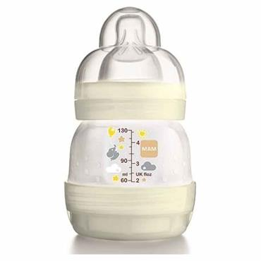 MAM Easy Start Anti-Colic Bottle 0 Months+ 130ml White