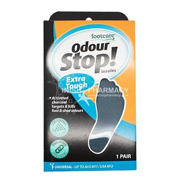 Footcare Odour Stop Insoles Extra Tough 1 Pair