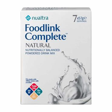 Foodlink Complete Nutritionally Balanced Powdered Drink 7 x 57g Natural