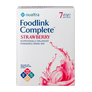 Foodlink Complete Nutritionally Balanced Powdered Drink 7 x 57g Strawberry