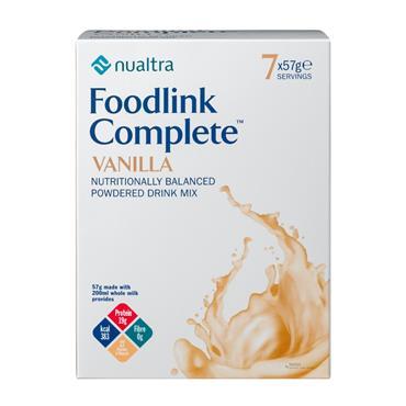 Foodlink Complete Nutritionally Balanced Powdered Drink 7 x 57g Vanilla