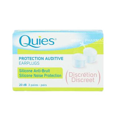 Quies Silicone Earplugs Discreet 3 Pairs
