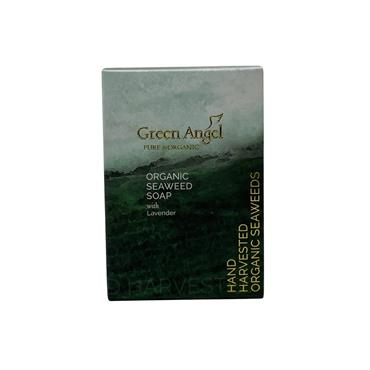 Green Angel Irish Seaweed Soap Lavender Essential Oil 100g White